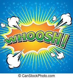 WHOOSH !- Comic Speech Bubble, Cart - Comic Speech Bubble,...