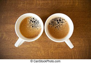 whte, campanelle, espresso, due