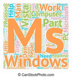 Why Change To Windows Vista Part 3 of 4 text background wordcloud concept