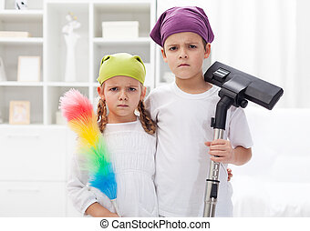 Why do we have to clean our room - upset kids with cleaning ...