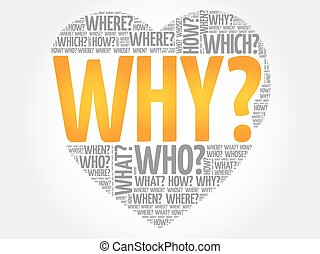 WHY? Question heart, Questions words concept background