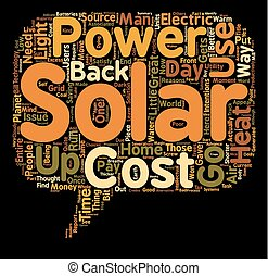 Why Use Solar Power Some Great Reasons text background wordcloud concept