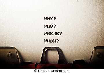 Why, who, where and when questions