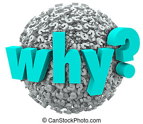 Why Word Question Mark 3d Symbols Sphere Wonder Reason - Why...