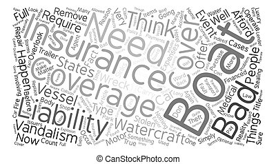 Why You Need Boat Insurance Word Cloud Concept Text Background