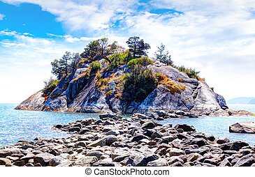 Whytecliff Islet Park Near Horseshoe Bay in West Vancouver