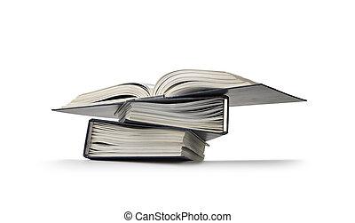wiązanie, dokumenty, stos, rząd, los