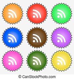 wi-fi , διαφορετικός , θέτω , wifi, δίκτυο , αναχωρώ. , labels., ασύρματος , μικροβιοφορέας , εννέα , εικόνα , έγχρωμος