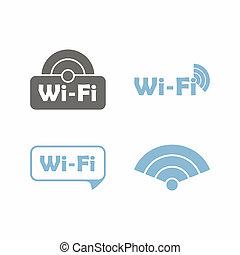 wi-fi, adesivo, libero, zona