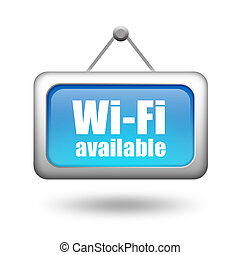 Wi-fi available sign isolated on white