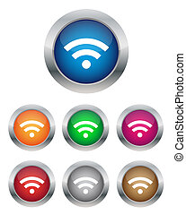 Wi-Fi buttons - Collection of Wi-Fi buttons in various...