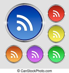 wi-fi , buttons., wifi, δίκτυο , αναχωρώ. , στρογγυλός , ασύρματος , ευφυής , μικροβιοφορέας , γεμάτος χρώμα , σύμβολο , εικόνα