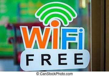 wi-fi, cégtábla, szabad