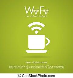wi-fi, caffè, icona