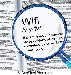 Wi-Fi concept icon means wireless internet connection access - 3d illustration