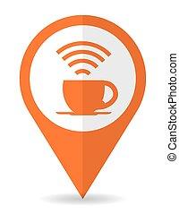 Wi-fi design, vector illustration. - Wi-fi design over white...