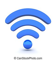 Wi-fi - Abstract Wi-fi on white background (done in 3d)