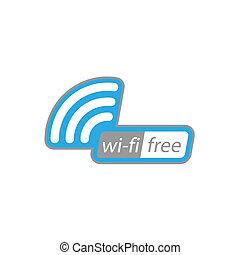 wi-fi, gratuite, icône