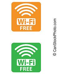 wi-fi, gratuite, signe