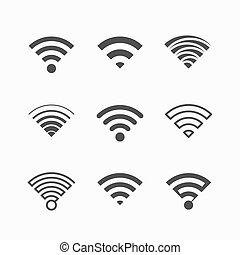 wi-fi, icônes