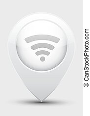 Wi fi icon in gray pointer