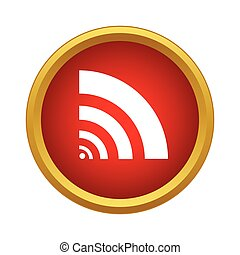 Wi fi icon in simple style