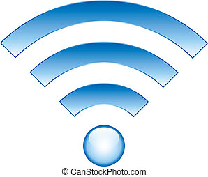 Wi-Fi Icon on white background - vector illustration.