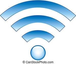 Wi-Fi Icon on white background - vector illustration.