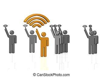 wi-fi, jelez, erős