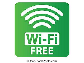 wi-fi, libero, segno