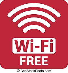 wi - fi, libre, señal