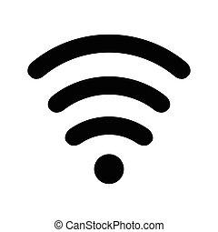 wi-fi, noir, icône