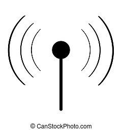 wi-fi, noir, signe