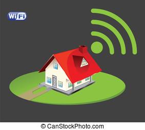 wi-fi, set, icona