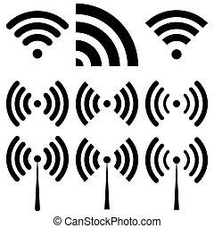 wi-fi, vettore, illustrazione