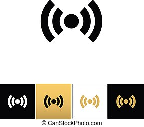 Wi-fi wireless signal spot symbol vector icon