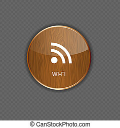 Wi-fi wood  application icons