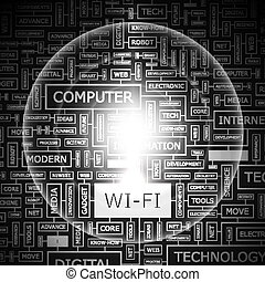 WI-FI. Word cloud concept illustration. Wordcloud collage.