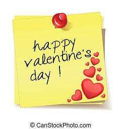 wiadomość, szczęśliwy, dzień, valentine