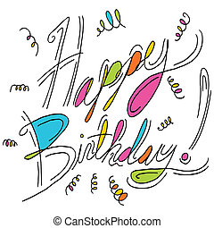 wiadomość, urodziny, szczęśliwy