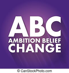 wiara, ambicja, zmiana, abc, -, pojęcie, akronim