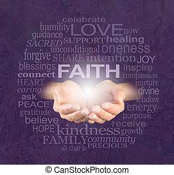 wiara, jakiś, gojenie, mieć
