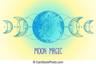 wicca, ?, païen, tatouage, astrologie, mère, déesse, magie, ...