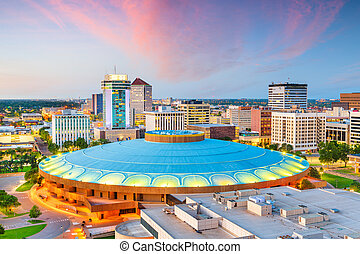 Wichita, Kansas, USA downtown city skyline