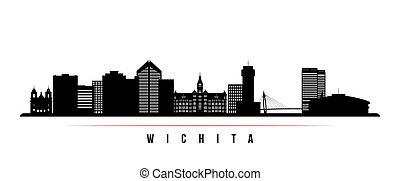 Wichita skyline horizontal banner.