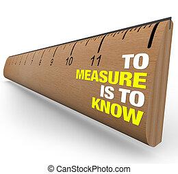 wichtigkeit, lineal, -, metrics, wissen, messen