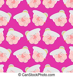 Wicked grandmother pattern. Angry Old hag background