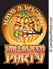Wicked Party Pumpkin