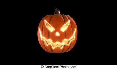 Wicked pumpkin for Halloween