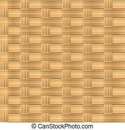 Wicker seamless pattern for organic background design